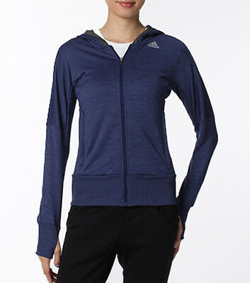 adidas Beyond The Run Ladies Running Hoody - Blue