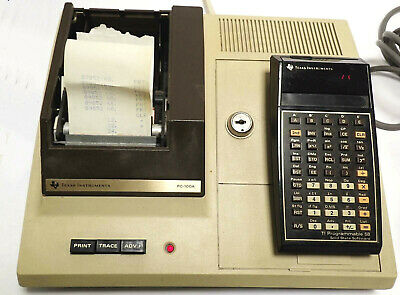 Texas Instruments Pc-100A Print/security Cradle And Ti58 Programmable Calculator
