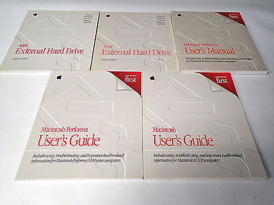 Lot Of 5 Vintage Macintosh User's Manuals And Guides