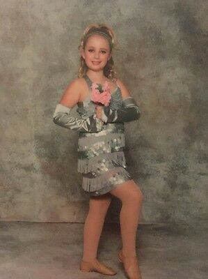 Weissman girls Silver dance costume jazz pageant recital competition LC