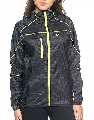 Asics Print FujiTrail Packable Ladies Running Jacket - Black
