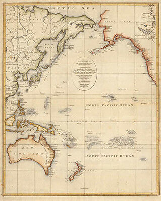 A new and accurate chart of the discoveries of Captain Cook PACIFIC 1797