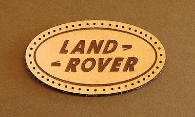 Leather sew on Landrover patch