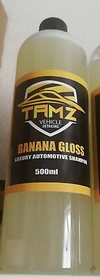 Tamz Banana Gloss Maintenance Wash Car Shampoo! 500Ml. A Shampoo For Gloss!