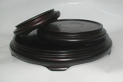 Round Wooden Vase Base or Lamp Stands