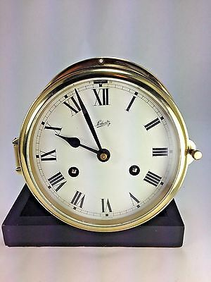"Vintage Solid Brass ""Schatz"" Mariner Clock Made In Germany"
