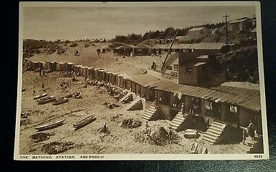 VINTAGE POSTCARD - THE BATHING STATION, ABERSOCH - EARLY 1900's