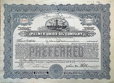 PALMER UNION OIL COMPANY 1927 CALIFORNIA see all my auctions