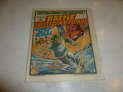 BATTLE ACTION FORCE Comic - Date 14/09/1985 - UK Paper Comic
