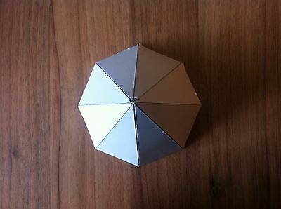 "Orgone Aluminium Octagonal Pyramid Mold / Mould - 6"" diameter base"