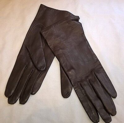 ladies brown leather M&S gloves NEW size 7 soft
