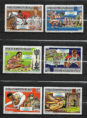 Madagascar : 1987 ( Olympic Games Barcelona 92 ) MNH ( complete set )