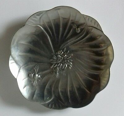 Kayserzinn 4199 Art Nouveau Pewter Jewellery Dish Tray Bee Flower 1898-1900