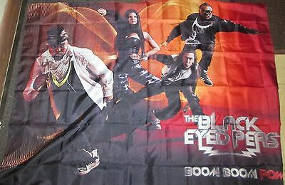Black Eyed Peas Texile Poster Flag  Rare New   Fergie