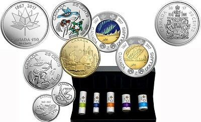 """Canadian 2017 """"uncirculated Coins"""", Commemorative Coins Set For Sale"""