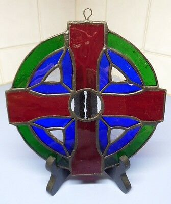 Handmade Stained Glass Celtic Cross