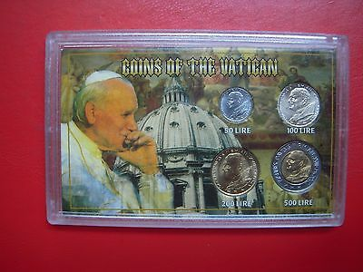 A Set Of Coins In Sandhill Case From The Vatican From My Collection