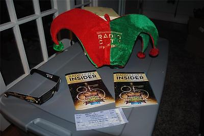 Radio City Christmas Spectacular 85 Years Jester Hat Playbill Rockettes Stub +