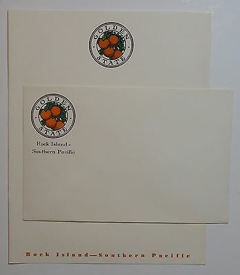On Train Stationery & envelope set: Rock Island Southern Pacific  - Golden State