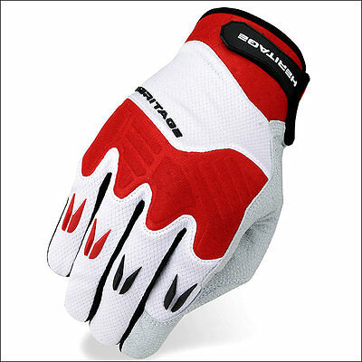 12 Size Heritage Polo Pro Horse Riding Equestrian Padded Glove White Red