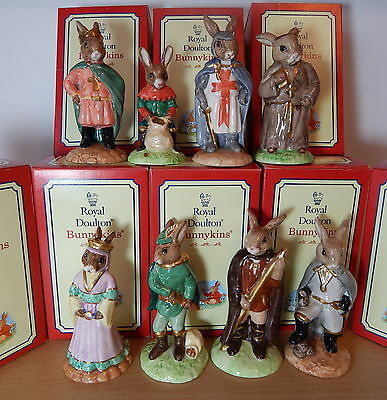 Very Rare  Full Gold Set X 8  Robin Hood Collection. Orig Boxes.