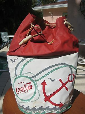 Vintage Coca Cola Beach Bag Coke Insulated Red and White