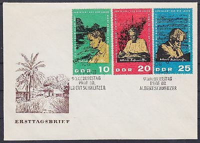 DDR FDC 1084 - 1086 mit SST Berlin Albert Schweitzer 1965, first day cover