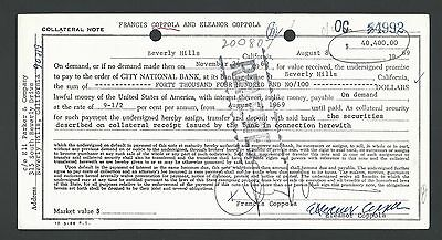 Francis Ford Coppola Signed 1969 Document, Godfather Director, PSA DNA LOA Rare