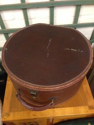 Antique Leather Hat Box/Small Case