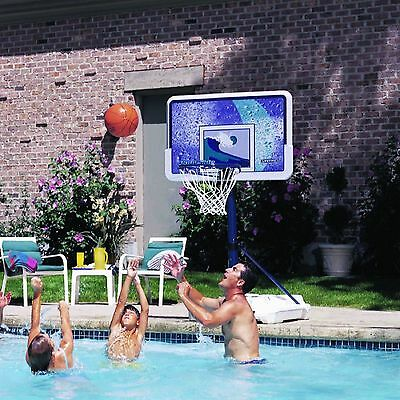 POOLSIDE BASKETBALL HOOP SYSTEM with BACKBOARD by LIFETIME Family Yard Pool Fun