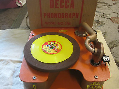 Antique Decca Child's Victrola Phonograph Record Player New Old Stock In Box!!!