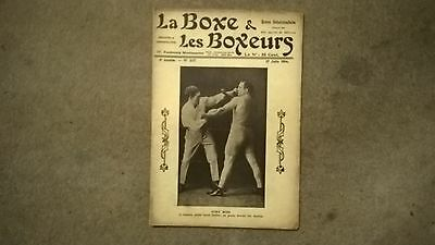 ANTIQUE BOXING magazine, La Boxe & Les Boxeurs, 1914,TONY ROSS on cover