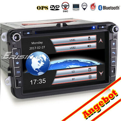"8"" Autoradio GPS OPS 3G DVD For VW Golf Passat Touran Polo Caddy Jetta SEAT Leon"
