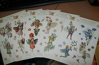 5 Sheets Flower Fairies Size A5 = 21X15 Cm  Scissors Need New New