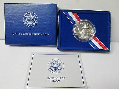 1986 US Statue of Liberty Proof Half Dollar Commemorative Coin