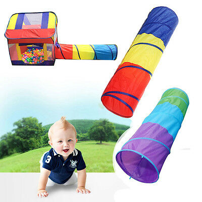 Folding Baby Toddler Crawling Tunnel Play Tube Outdoor Indoor Fun Game Tent Toys