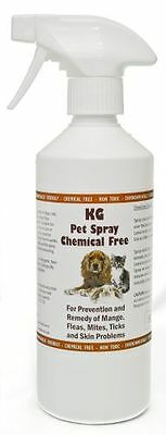 Pet Spray 500ml treatment for mange, fleas, ticks & skin problems.Chemical Free
