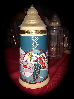 Olympic Winter Games Sarajevo 1984 XIV Lidded Beer Stein FATHER'S DAY GIFT