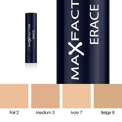 Max Factor Erace Cover Up Concealer Stick *Choice Of Shade*