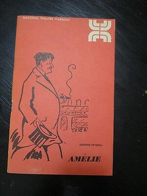 "AMELIE by GEORGES FEYDEAU, A SHOW PROGRAM,""HABIMA"" THEATER, ISRAEL,1970. cs3372"