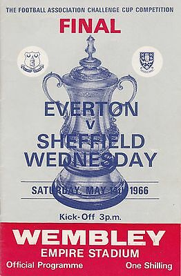 EVERTON v SHEFFIELD WEDNESDAY ~ FA CUP FINAL 14 MAY 1966 VERY GOOD CONDITION (2)