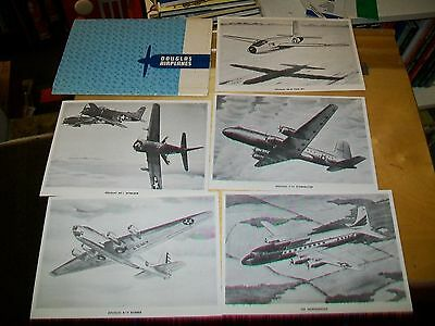 DOUGLAS AIRPLANES PUBLICITY FOLDER WITH DRAWINGS & SPECIFICATIONs ? late 1940's