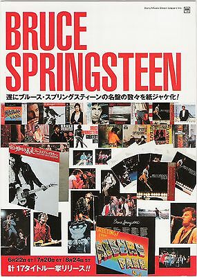 BRUCE SPRINGSTEEN 'Complete' Japanese foldout Flyer/mini Poster 10x7 inches