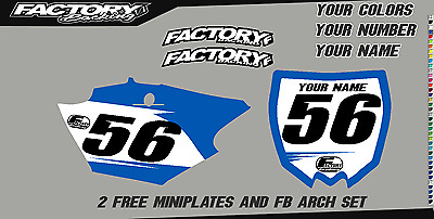 Yamaha WR250F 07-13 WR450F 07 Pre Printed Number plate Background BASIC SERIES