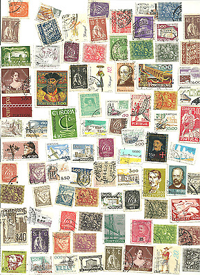 85 Mostly Different Postage Stamps from Portugal .