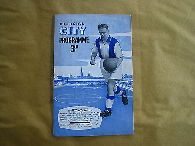 Coventry City v Huddersfield Town 1954-5 Vintage Football Programme VGC!!