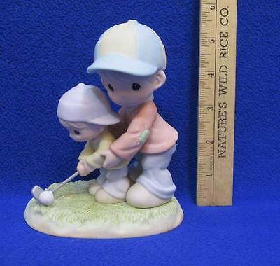 Precious Moments Figurine You Always Stand Behind Me Father & Son Golf Day Gift