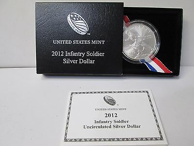 2012 Infantry Soldier Uncirculated Silver Dollar Commemorative