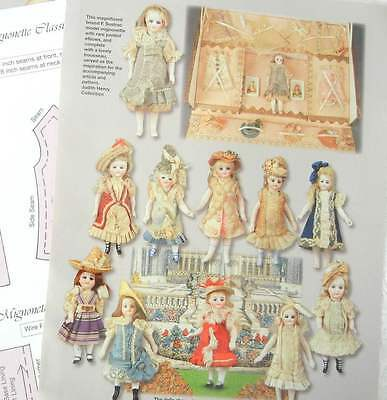 """Wardrobe Pattern to fit 5"""" Inche French Mignonette BISQUE Doll .Plus article."""