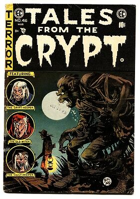 Tales From the Crypt #46 comic book 1955- Werewolf cover LAST ISSUE! EC